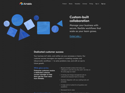 a screenshot for the Enterprise page of Airtable