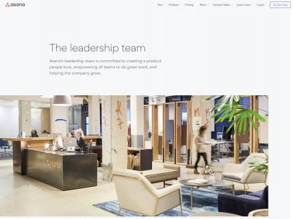 screenshot of the asana leadership page