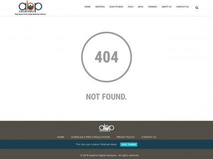 Screenshot of the 404 page from the A Billion People website.