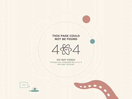 Screenshot of the 404 page from the Atom Text Editor website.