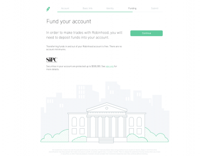 Screenshot of the Sign Up – Step 5 page from the Robinhood website.