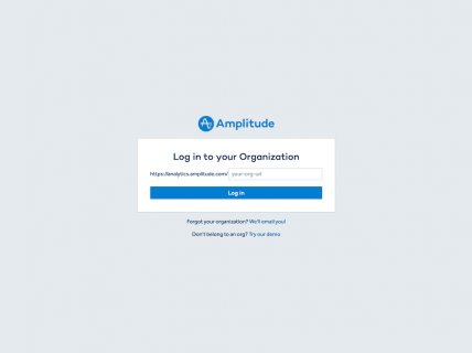 Screenshot of the Login page from the Amplitude website.